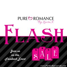 Join Us December 1st from 9am to 9pm on our FaceBook Event for a Cyber Monday Flash Sale. The Last Pure Romance By Laura K sale of the season.  Stuff your stockings for less.  Products for everyone on your holiday list. https://www.facebook.com/events/503553433117169  #FlashSale #PureRomance #Lotions #Lingerie #GirlsNightOut #FUN #ThinkPink #PartiesByLauraK #holiday #Shopping #MustHaves  www.PureRomanceByLauraK.com 908-752-1382 PartiesByLauraK@Hotmail.com