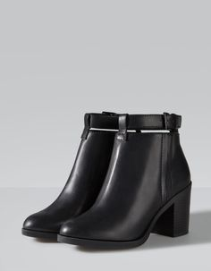 Stradivarius High heel ankle boots with strap