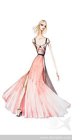 Pantone Fashion Color Report Spring 2015 Designer Sketch 01