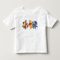 Winnie The Pooh & Friends Holiday Toddler T-shirt. Cute Christmas Toddler tee designed by a Zazzle artist. More on my boards. Winnie The Pooh Friends, Disney Winnie The Pooh, Mickey And Friends, Disney Mickey, Disney Pixar, Mickey Mouse, Toy Story Buzz Lightyear, 1st Birthday Girls, Birthday Ideas