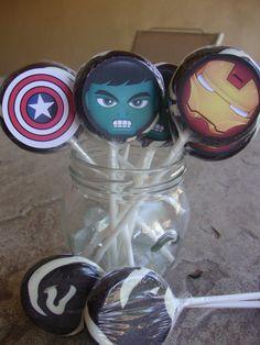 Avengers Lollipop party Favors