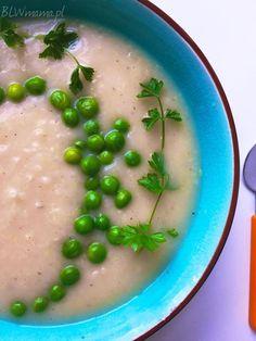 zupa porowo- ziemniaczana z groszkiem