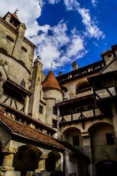 Dracula's Castle courtyard, Transylvania, Romania www.romaniasfriends.com