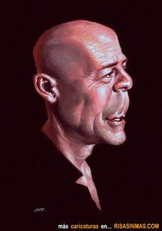 Caricatura de Bruce Willis.