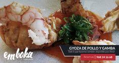 Degusta en nuestra Taperia-Restaurante o también para llevar, de nuestras novedosas tapas de autor; hoy te presentamos Gyoza de pollo y gamba. ¿Apetece? Estamos en La Flota, Murcia. Tlf: 968241668