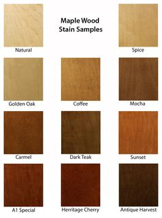 These Are Some Wood Staining Samples Choose What Would Compliment Your Next Project