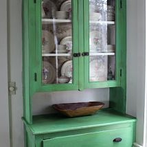 Painted old hutch.... Love this