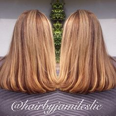 Gorgeous golden ash base with pearly blonde highlights. Hair by Jami Leslie. Tiger Tail Salon- Carlsbad CA