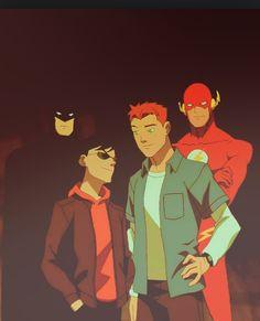 Batman, Flash, Robin, Kid Flash