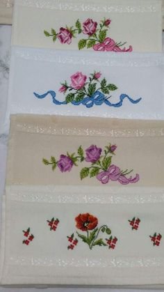 This Pin was discovered by Hat Cross Stitch Rose, Cross Stitch Borders, Cross Stitching, Flower Coloring Pages, Hand Embroidery, Diy And Crafts, Crochet, Floral, Ftm