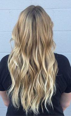 subtle blonde ombre highlights