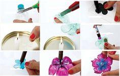 como fazer flores com garrafa pet