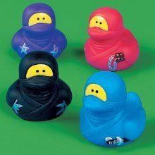 ninja duck, you're the one, you make bath time lots of fun!