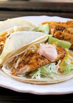 Creole Contessa: Grilled Fish Tacos with Sriracha Sour Cream