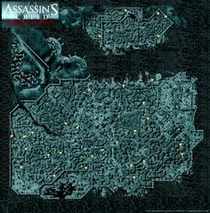 Assassin's Creed map of Constantinople