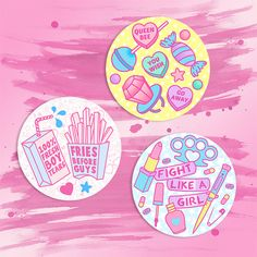 Girl Gang 3 Sticker Pack - 3 for £1.50 + p&p #candydollclub #girlgang