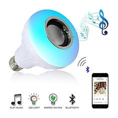 LED Music Light Bulb,Renoliss E27 led light bulb with Bluetooth Speaker RGB Changing Color Lamp Built-in Audio Speaker with Remote Control for Home, Bedroom, Living Room, Party Decoration  ★Enjoy Wireless Music and Colorful Lights - The smart music bulb with built-in speaker not only can be used as a led light bulbs, but also can be a speaker, led night light and led party light.  ★Easy To Install - This light bulb speaker is made to the highest standards in the lighting industry, and ...