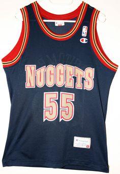 Champion NBA Basketball Denver Nuggets  55 Dikembe Mutombo Trikot Jersey  Size 40 - Größe 4b2c8ff82