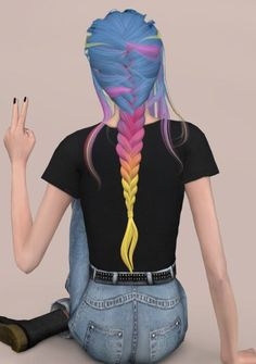 Leahlillith Daydream Recolor Hair for The Sims 4 - All For Hairstyles Sims 4 Cas, My Sims, Sims Cc, Sims 4 Game Mods, Sims Games, Pelo Sims, The Sims 4 Cabelos, Sims 4 Toddler, Toddler Hair
