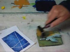 Make Artist Trading Cards on a Gelatin Plate with Linda Germain