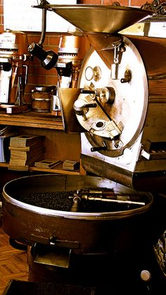Vintage Coffee Roaster at the Connoisseur Coffee Co. in Redwood City, California