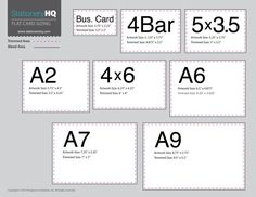 A Sizes  Wedding Invites    Envelope Size Chart And