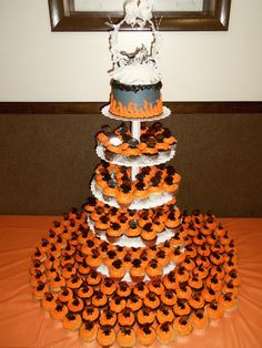 Harley Davidson Cupcake Wedding Cake by Nancy K.