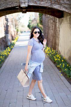 grey-stretch-maternity-dress