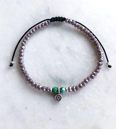 Itty Bitty Flower Power Bracelet, Crystal - Adjustable