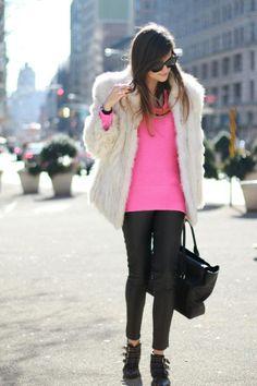 Pink neon shirt-netrobe