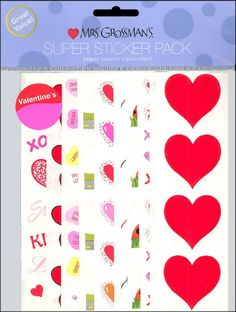 Mrs Grossman's Stickers - Super Pack - Valentine