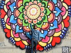 Artista espalha mandalas pelos muros de Campinas   Psicodelia.org