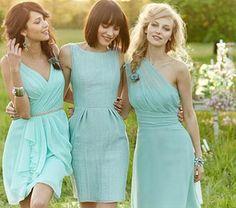 Fotos de vestidos de madrinha de casamento azul claro