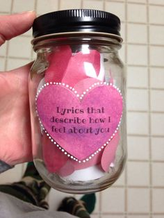DIY your photo charms, 100% compatible with Pandora bracelets. Make your gifts special. Make your life special! Lyrics that describe how I feel about you Mason Jar | DIY boyfriend gift | Mason Jar DIY | Mason Jar Crafts | Lyrics