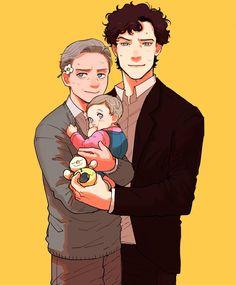 It's hard to take care a baby,oh btw we're not a couple Molly Hooper Sherlock, Sherlock Moriarty, Watch Sherlock, Sherlock Holmes Bbc, Sherlock Holmes Benedict Cumberbatch, Sherlock John, Funny Sherlock, Johnlock, Sherlock Tumblr