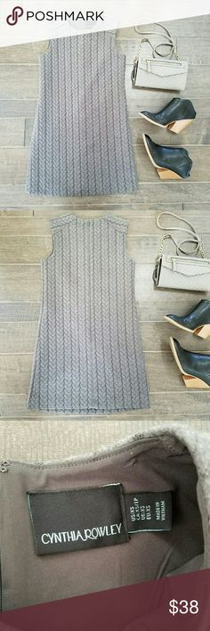 🚨SALE🚨 {Cynthia Rowley} Quilted Mini Shift Dress Grey quilted mini shift dress by Cynthia Rowley. Fairly fitted. Super soft and cozy. Amazingly thick, feminine yet durable material, with a hint of stretch. Cushy shell; silky lining. Slightly short / mini (not quite midi) dress.   Pair with sweater tights, a blazer, 'n heels for the winter! Could still be office appropriate if you're shorter.  :-) Absolutely gorgeous condition.  NWOT. Peace & Happy Poshing! Cynthia Rowley Dresses Mini