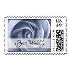 April Wedding : rose of the season : Postage Stamp