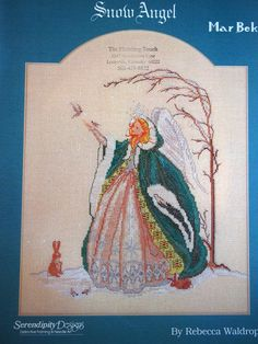 Snow Angel By Rebecca Waldrop and Mar Bek Vintage Cross Stitch