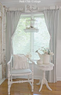 """love the """"curtain rod"""" for the window treatment"""