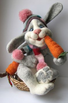 Absolutely adorable stuffed bunny rabbit. Omg, this is everything!  All I want for Easter is THIS!