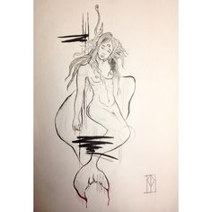 @patrizia_pozo Tattoo Apprentice, Tattoo Sketches, Tattoo Designs, Drawings, Illustration, Instagram Posts, Art, Water Well, Mermaid