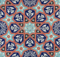 Photo of a set of seamless traditional Turkish tile. Tile Patterns, Pattern Art, Textures Patterns, Islamic Art Pattern, Arabic Pattern, Turkish Tiles, Portuguese Tiles, Moroccan Tiles, Moroccan Decor