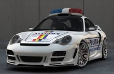 Designed by Bogdan Urdea, this Romanian police pursuit vehicle was adapted from a Porsche 911