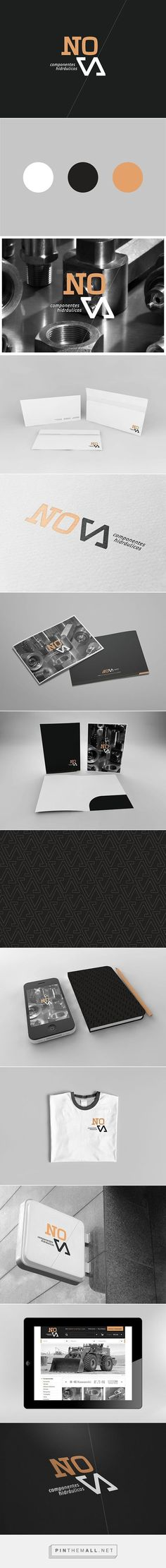 (54) Nova Corporate Identity on Behance | Fivestar Branding – Design and Branding Agency & Inspiration Gallery | Branding | Pinterest / Branding / Ideas / Inspiration / Brand / Design / Corporative / Hidraulic / Industrial / Gold / Black / Gray /