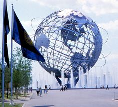 "A photo of the1964 World's Fair Unisphere. Credit: Gary W. Clark. Read more on the GenealogyBank blog: ""1964 World's Fair: History, Photos & Memorabilia."" http://blog.genealogybank.com/1964-worlds-fair-history-photos-memorabilia.html"