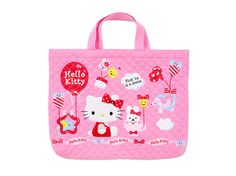 Hello Kitty School Kids Girls Quilt Tote Bag Pink Balloon SANRIO
