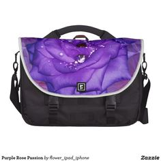 Purple Rose Passion Laptop Bag from Zazzle