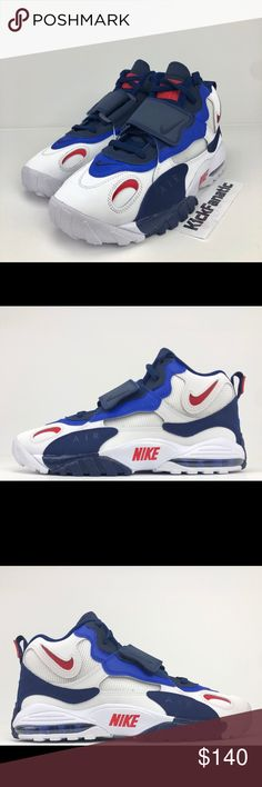new product 94307 57e4d Nike Air Max Speed Turf Giants White Blue Red Nike Air Max Speed Turf  Giants White