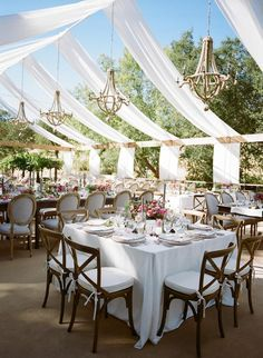 Romantic Sonoma Wedding With Garden Vibes Outdoor ReceptionOutside