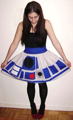 R2D2 Skirt Makes Me Wanna Do Drag - this another one for Arielle to add to her shoes and shirt!